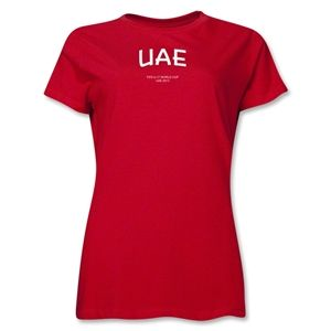 United Arab Emirates 2013 FIFA U 17 World Cup UAE Womens T Shirt (Red)