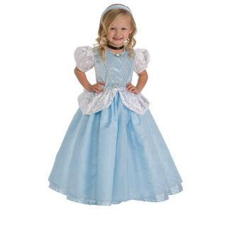 Little Adventures Deluxe Cinderella Costume with Optional Slip Multicolor