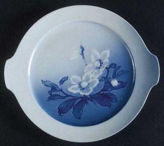 Bing & Grondahl Christmas Rose Handled Cake Plate, Fine China Dinnerware   White
