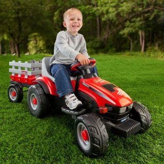 Peg Perego Case Lil Tractor & Trailer Multicolor   IGED1112