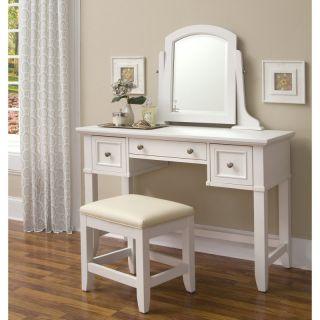 Naples Bedroom Vanity Table   White   5530 72