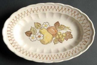 Metlox   Poppytrail   Vernon Fruit Basket 9 Oval Serving Platter, Fine China Di