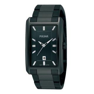 Pulsar Mens Black Bracelet Watch