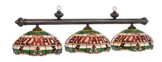 Billiard Stained Glass Pool Table Light