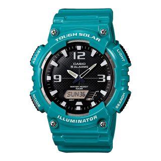 Casio Analog Digital Solar Sports Watch, Green, Mens