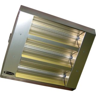 TPI Indoor/Outdoor Quartz Infrared Heater   25,298 BTU, 480 Volts, Stainless