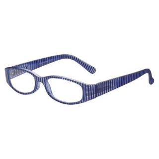 b60405f039 ... ICU Nautical Blue Striped Rectangle Reading Glasses With Case +2.5 ...