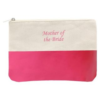 Mother of the Bride Color Dipped Canvas Clutch   Pink