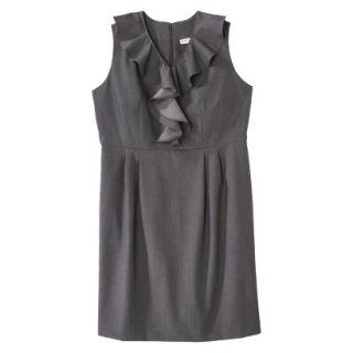 Merona Womens Plus Size Sleeveless Sheath Dress   Gray 28W