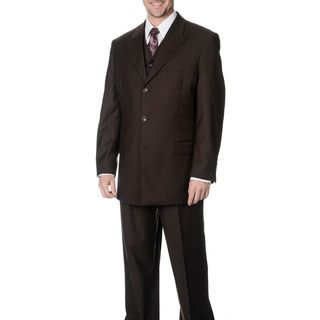 Caravelli Fusion Mens Brown 3 piece Vested Suit