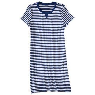 Merona Womens Knit T Shirt Dress   Blue/White   XS