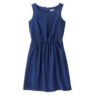 Merona Womens Woven Drapey Dress   Waterloo Blue   L