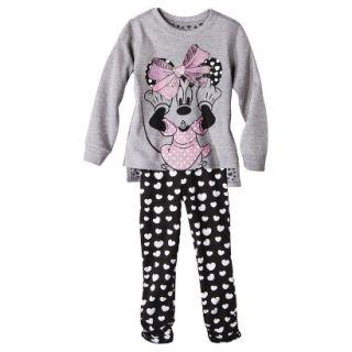 Disney Infant Toddler Girls 2 Piece Minnie Mouse Set   Grey 3T