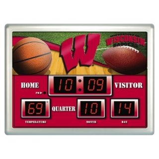 Team Sports America Wisconsin Scoreboard Clock