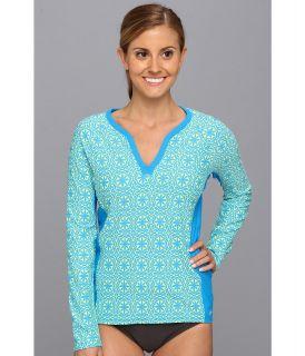 Next by Athena Tapa Paddle Out Surf Shirt Womens Swimwear (Blue)