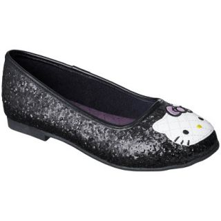Girls Hello Kitty Ballet   Black 10