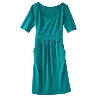 Merona Womens Ponte Elbow Sleeve Dress w/Pockets   Monterey Bay   XS
