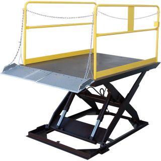 Vestil Scissor Dock Lift   Electric/Hydraulic, 10,000 lb. Capacity, 144 Inch L