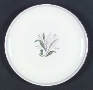 Pickard Reverie Gray (Gold Trim) Salad Plate, Fine China Dinnerware   Gray Band,