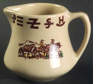 True West Westward Ho Creamer, Fine China Dinnerware   Beige Background, Cowboy