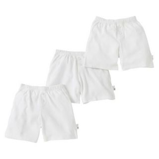 Burts Bees Baby Infant Toddler Boys 3 Pack Boxer Shorts   Dove White 12 M