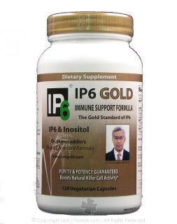 IP 6 International, Inc.   Dr. Shamsuddins Original IP6 Gold Immune Support with IP6 & Inositol   120 Vegetarian Capsules formerly IP 6 & Inositol Immune Support Formul
