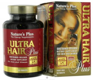 Natures Plus   Ultra Hair Plus   60 Tablets
