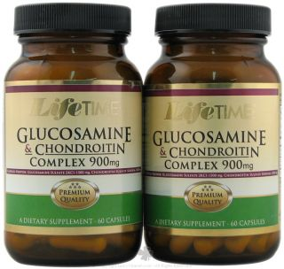 LifeTime Vitamins   Glucosamine & Chondroitin Complex (60+60) Twin Pack 900 mg.   120 Capsules