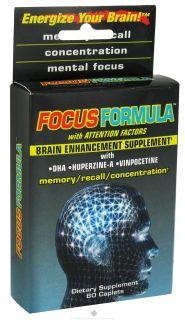 Windmill Health Products   Focus Formula Brain Enhancement Supplement   60 Caplets