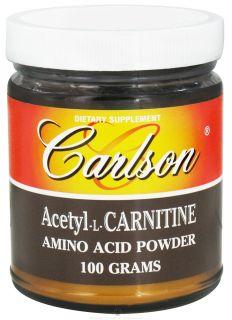 Carlson Labs   Acetyl L Carnitine Amino Acid Powder 1200 mg.   100 Grams