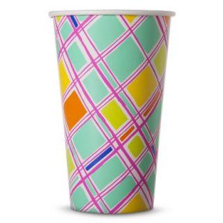 Oh Joy 16oz Paper Cups Plaid 10ct