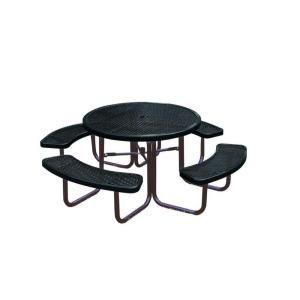 Ultra Play 46 in. Diamond Black Commercial Park Portable Round Table PBK358 RDVBK