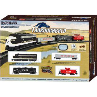 Bachmann Thoroughbred HO Scale Electric Train Set, Bachmann 00691 HO Scale Thoroughbred Train Set, Bachmann HO Scale Train Set, HO Scale Electric Train Set