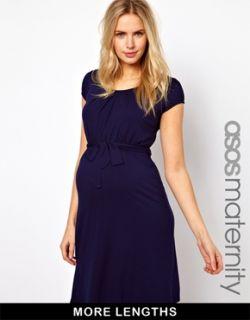 Maternity  Vestido con cinturón y escote redondo Kate exclusivo de Maternity en
