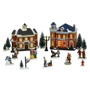 Home Accents Holiday Lighted Village Set (20 Piece) 11538162