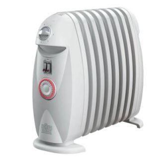 DeLonghi Safeheat 1200 Watt Electric Oil Filled Radiant Portable Heater   White TRN0812T