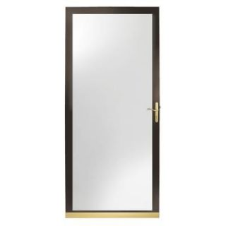 Andersen 2000 Series 36 in. Bronze Aluminum Full View Storm Door with Brass Hardware HD20FV 36BZ