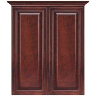 MasterBath Raised Panel 24 in. Bath Storage Cabinet in Dark Cherry DISCONTINUED METT DCH