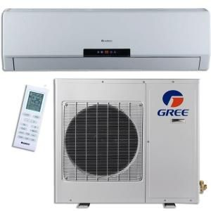 GREE Premium Efficiency 12,000 BTU (1 Ton) Ductless (Duct Free) Mini Split Air Conditioner with Inverter, Heat, Remote 115V GWH12MB A3DNA3A