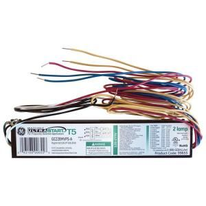 GE 2 or 1 Lamp T5 Program Start 120 277V Electronic Ballast (Case of 10) DISCONTINUED GE228MVPS A