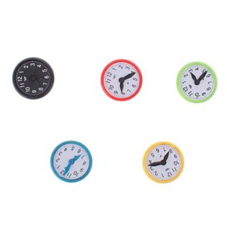 Colorful Clock Style Magnets (5 Pack)