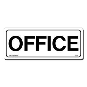 Lynch Sign 10 in. x 4 in. Black on White Plastic Office Sign GO  1