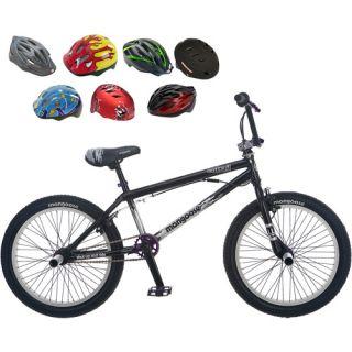 Mongoose Entrail 20 Boys BMX Bike & Helmet Value Bundle