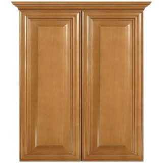 MasterBath Elite Raised Panel 24 in. W Bath Storage Cabinet in Cinnamon METT CM