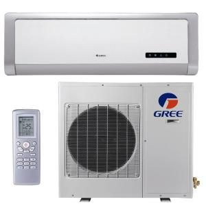 GREE High Efficiency 12,000 BTU Ductless Mini Split Air Conditioner with Heat   115V/60Hz GWH12ABA3DNA1R