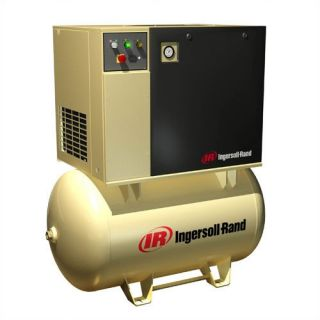 Ingersoll Rand 15 HP 125 PSI 55 CFM, 80 Gallon, 3 Phase Rotary Screw Air Compressor Tools