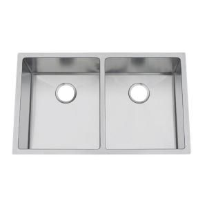 Frigidaire Gallery Undermount Stainless Steel 31 5/8x18 5/8x9 0 Hole Double Bowl Kitchen Sink FGUR3219 D99