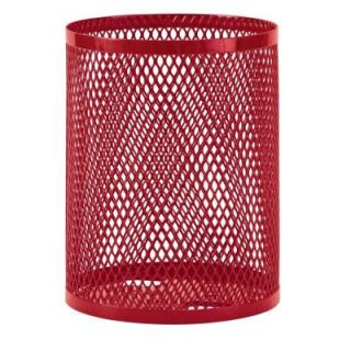 Ultra Play 32 gal. Diamond Red Commercial Park Portable Trash Receptacle EX 32 R