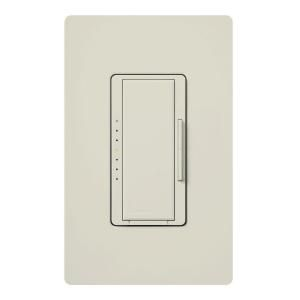 Lutron Maestro 150 Watt Single Pole/3 Way/Multi Location Digital CFL LED Dimmer   Light Almond MACL 153MH LA