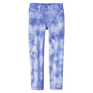 Girls Tye Dye Print Skinny Jean   Bright Blue 12